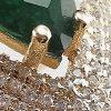 Anillo enchapado en oro Brilho Joias con piedras de circón y microcircón detalle 2