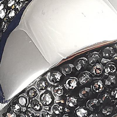 Anillo de acero quirúrgico 316 Brilho Steel con piedras de circón detalle 2