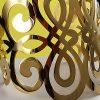 Pulsera brazalete de acero quirúrgico 316 Brilho Steel con enchapado dorado detalle 5