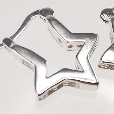 Aro de plata 925 Brilho Silver con circones y sistema de cierre italiano detalle 3