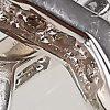 Aro de plata 925 Brilho Silver con circones y sistema de cierre italiano detalle 2