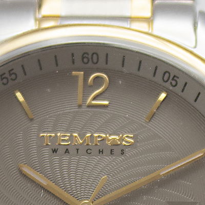 Reloj Tempus Watches para hombre de acero gris detalle