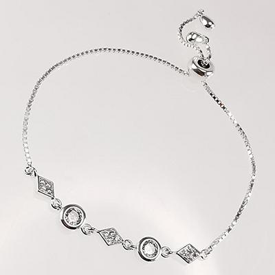 Pulsera de plata 925 Brilho Silver con circones, microcircones y sistema ajustable