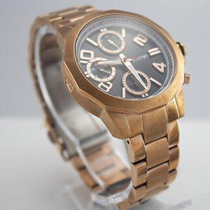 Reloj Tempus Watches para dama multifunción de acero con fondo negro