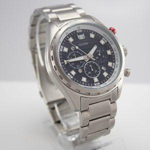Reloj Tempus Watches para hombre con cronógrafo en acero plateado