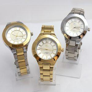 Reloj Yess Watches dama modelo clásico dorado plateado