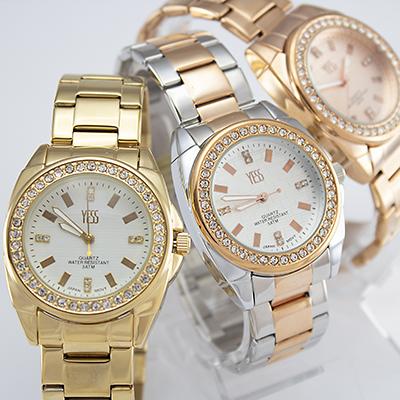 Reloj Yess Watches para dama fashion metálico