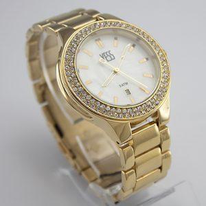 reloj análogo yess watches para dama metálico color dorado