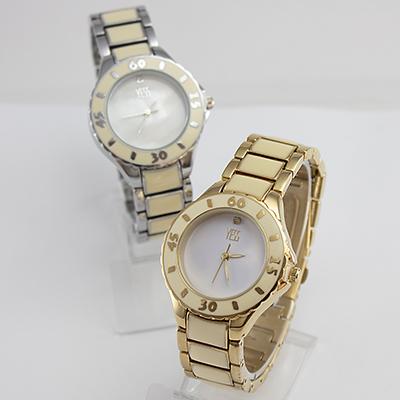 Reloj Yess Watches metálico con resina en plateado y dorado