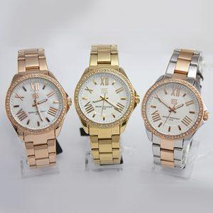 Reloj Yess Watches para dama metálico bronce dorado plateado/dorado