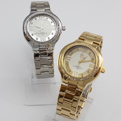 Reloj Yess Watches para mujer metálico casual plateado y dorado