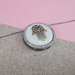 Set enchapado en oro rodinado Brilho Joias con piedras de microcircón y resina
