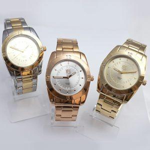 Reloj análogo yess casual pulso de acero con caja alloy