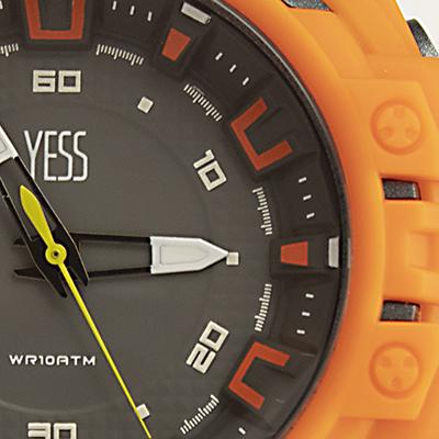 Reloj Yess Watches para hombre estilo deportivo análogo detalle