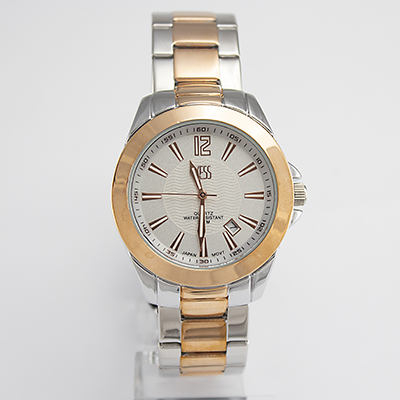 Reloj Yess Watches para hombre metálico color dorado plateado