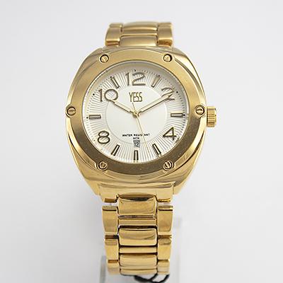Reloj Yess Watches para varon color dorado metálico