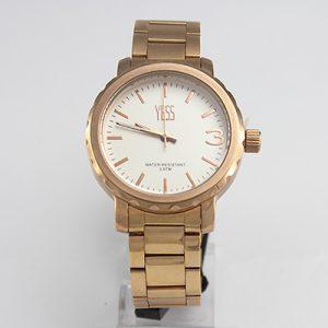 Reloj Yess Watches para varón metálico color dorado modelo casual
