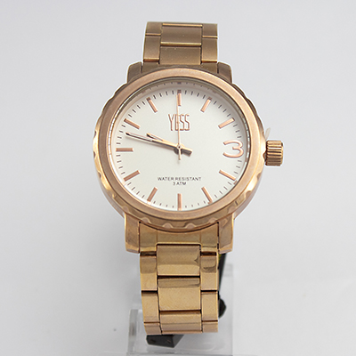 Reloj Yess Watches para varón metálico color dorado modelo casual
