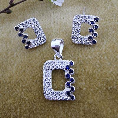 Conjunto aros y colgantes de plata 925
