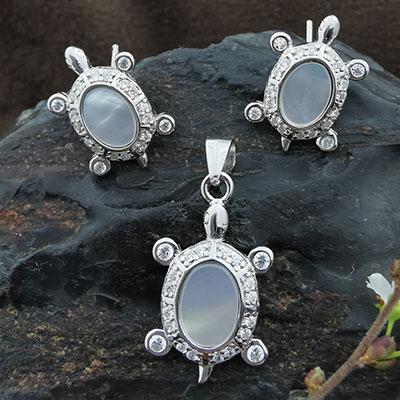 Conjunto tortugas de plata 925