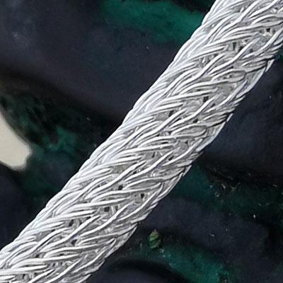 Pulsera en plata de filigrana detalle