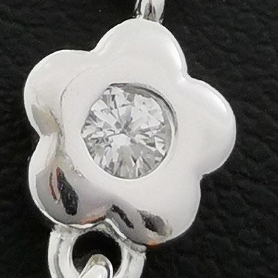 Pulsera de plata con piedras de circón detalle