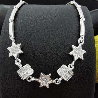 Pulsera de plata con estrellas y microcircones