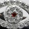 Aros de plata ojo turco detalle
