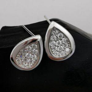 Aros de plata gotas con microcircones