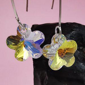 Aros en plata con cristales Swarovski