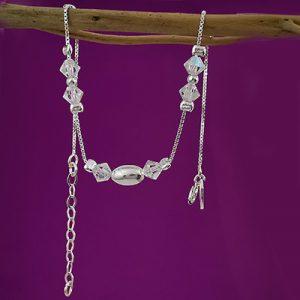 Pulsera en plata con cristal murano