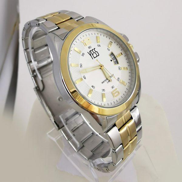 Reloj Yess metálico dos tonos con calendario