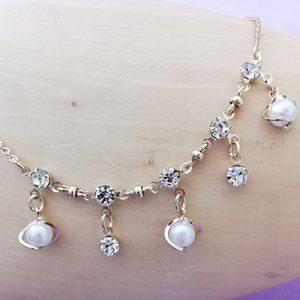 Pulsera de enchapado con perlas