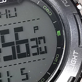 Reloj Yess digital azul detalle