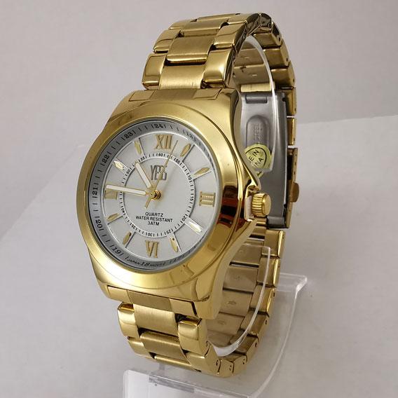 Reloj dorado Yess metálico