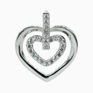 Dije diseño corazón con micro circones